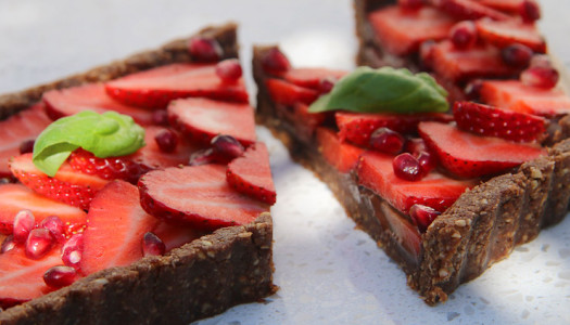 Strawberry 'regular people' tart
