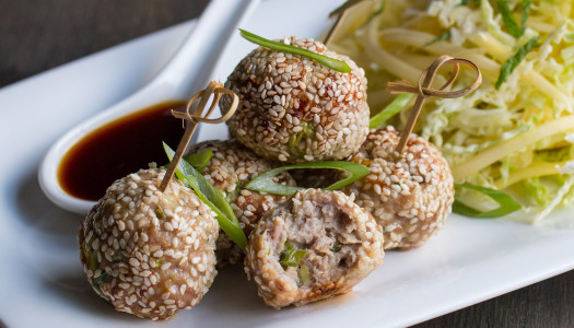 Sesame pork balls