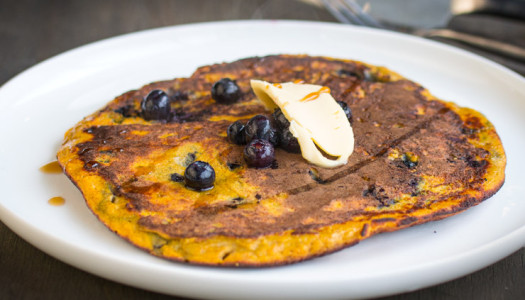 Pumpkin & Blueberry Pancakes